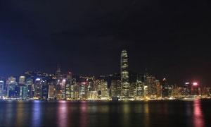 香港维多利亚港夜景摄影图片