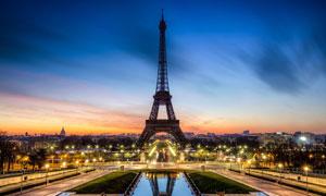 美丽的巴黎夜景摄影图片素材