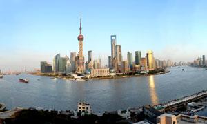上海陆家嘴金融中心全景摄影图片