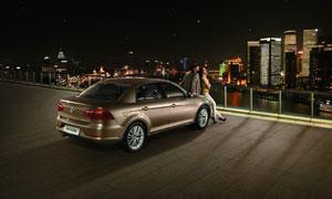 全新的大众宝来汽车摄影图片