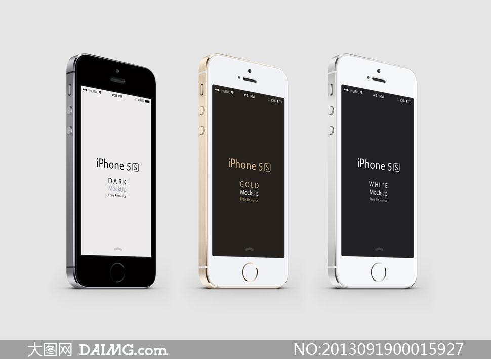 蘋果iphone5s手機效果圖psd分層素材