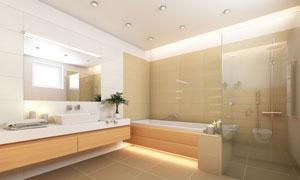 洗手间淋浴房浴室内景摄影高清图片