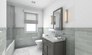 洗手间里的卫浴设备等摄影高清图片