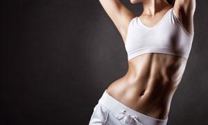 有肌肉的美女局部特写摄影高清图片