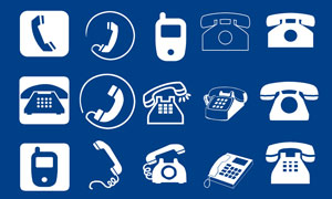 电话机和手机标识设计PSD分层素材
