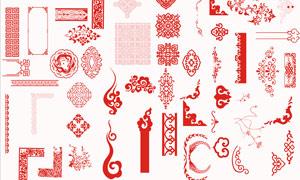 中国传统古典花纹设计PSD分层素材