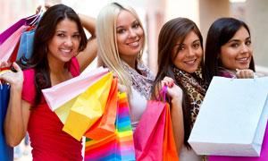 拎着手图片的购物提袋摄影高清美女-大图网设最强-江美女入闪闪是图片