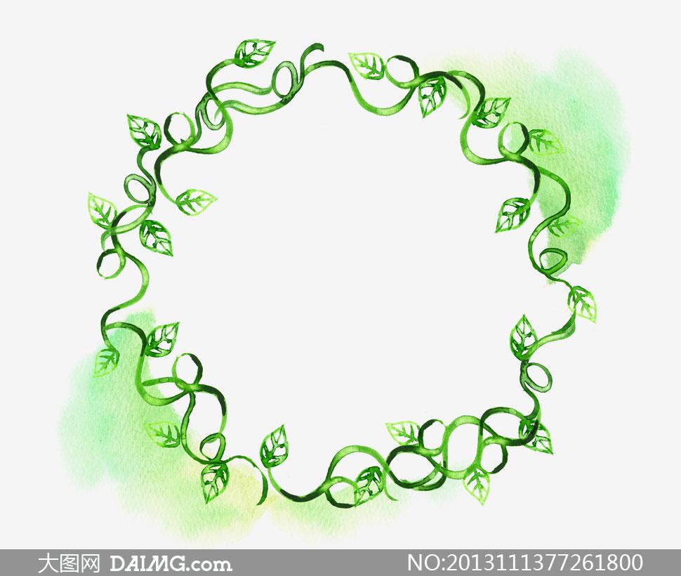 关键词: psd分层素材韩国素材tua花边边框图案叶子绿叶圆形树藤藤蔓