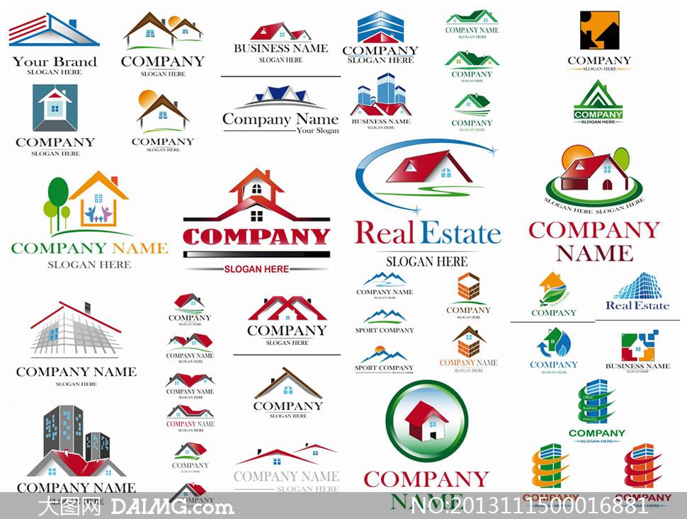 房地产企业logo设计矢量素材