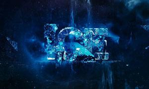 创建超炫的冰霜特效字体PS教程素材