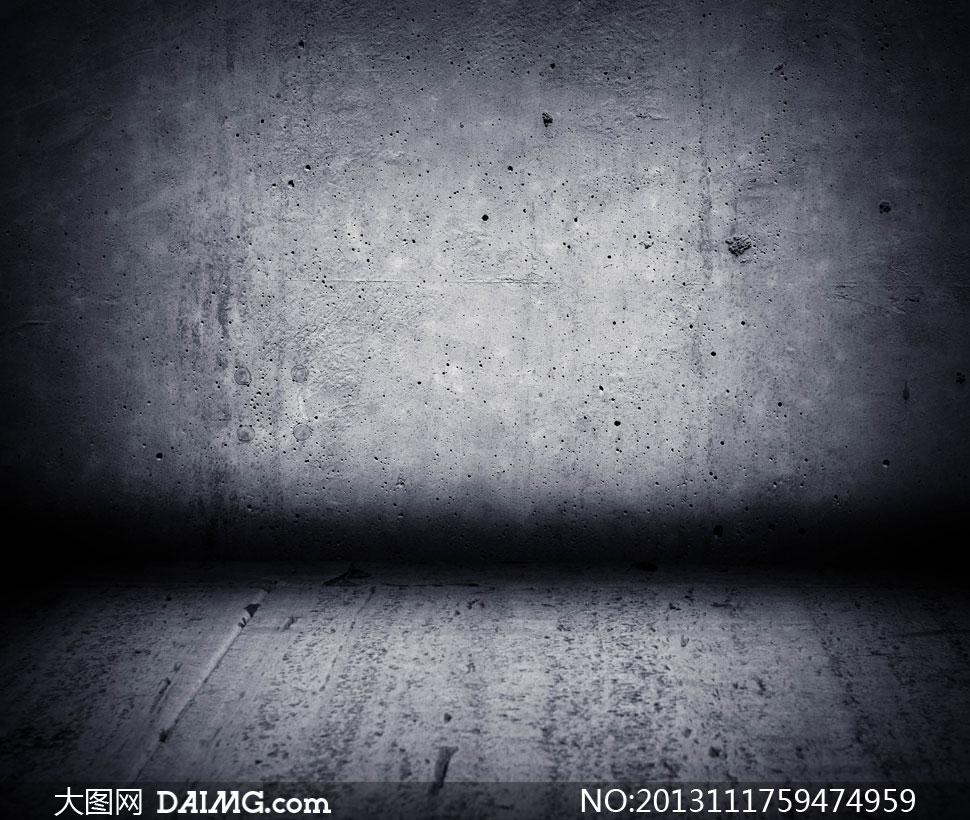 光照效果水泥墙壁近景摄影高清图片