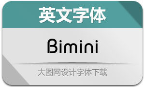 Bimini系列三款英文字体