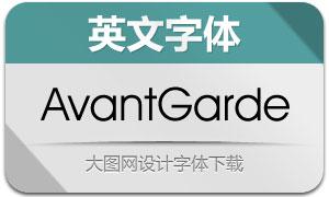 AvantGarde系列6款英文字体
