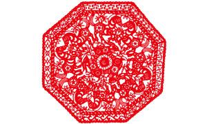 2014马年传统剪纸文化矢量素材
