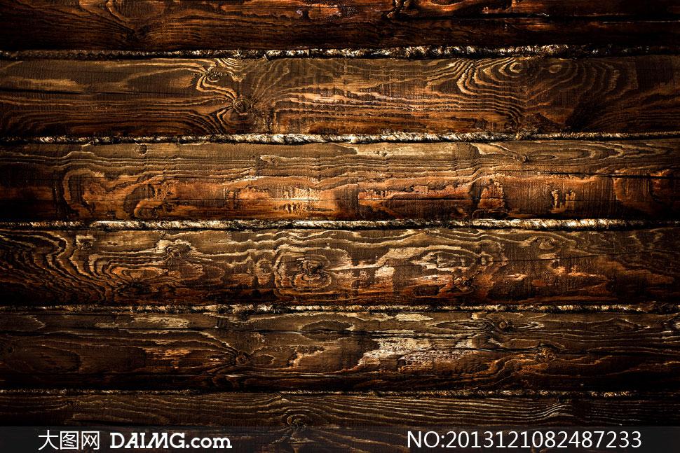 特写底纹背景木纹木板条
