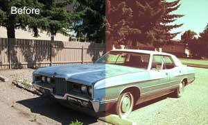怀旧的汽车老照片效果调色动作