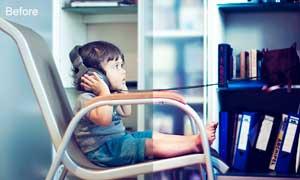 儿童照片梦幻蓝色效果调色动作