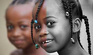 儿童照片质感的黑白效果调色动作