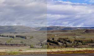灰蒙蒙的数码照片变清晰调色动作