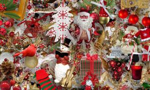 圣诞老人小鸟吊球等欧美剪贴素材
