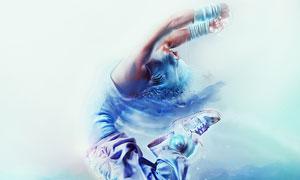舞者艺术海报设计PS教程素材