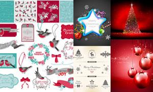 喜庆圣诞节气氛等创意矢量素材