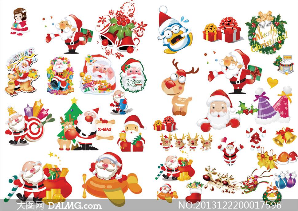 圣诞节装饰素材集合psd源文件