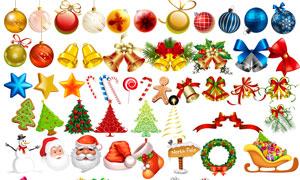 圣诞节圣诞装饰素材集合PSD分层素材