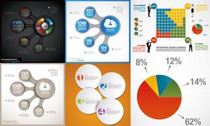 圆形主题信息图表创意设计矢量素材