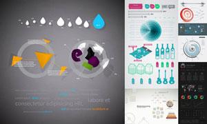风格迥异的数据信息图创意矢量素材