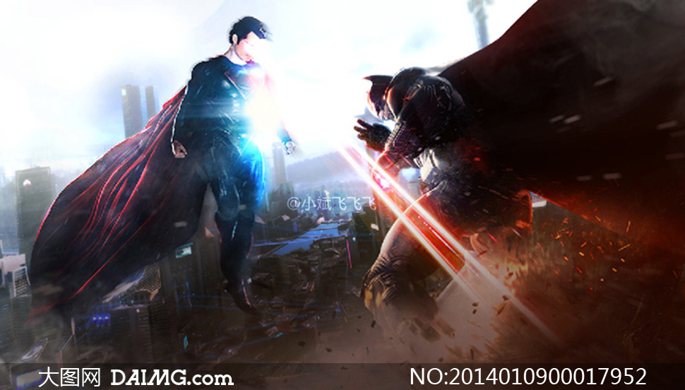 超人大战蝙蝠侠PS教程素材
