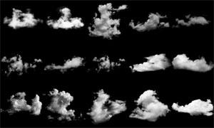 高清晰白云和云彩装饰笔刷