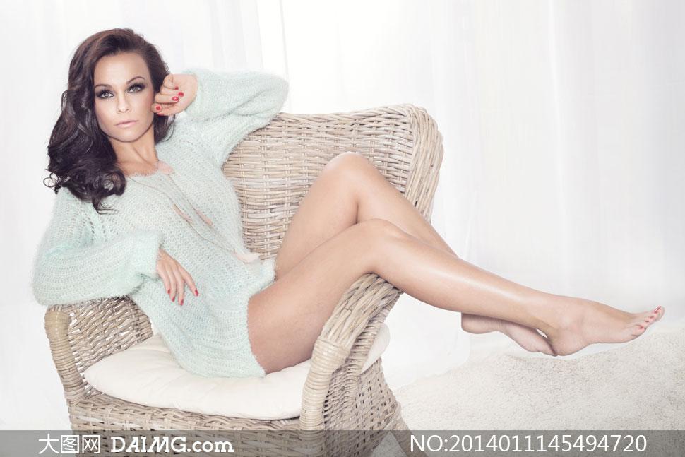 高清摄影大图图片素材人物欧美美女模特女人女性长发秀发性感长腿美腿