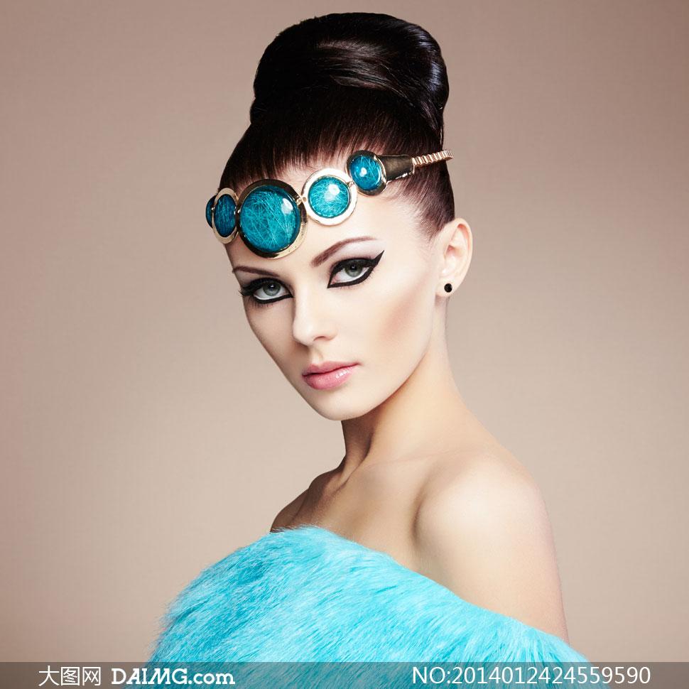 高清摄影大图图片素材人物欧美美女女性女人模特化妆