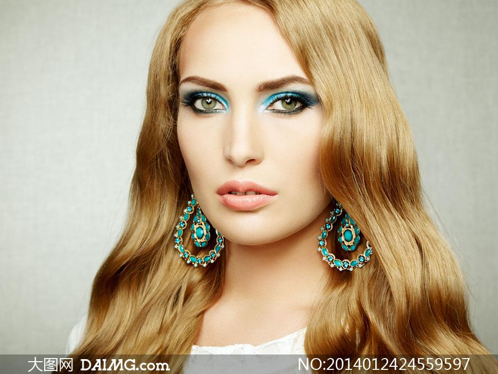 欧美眼妆美女人物特写摄影高清图片 - 大图网设计素材