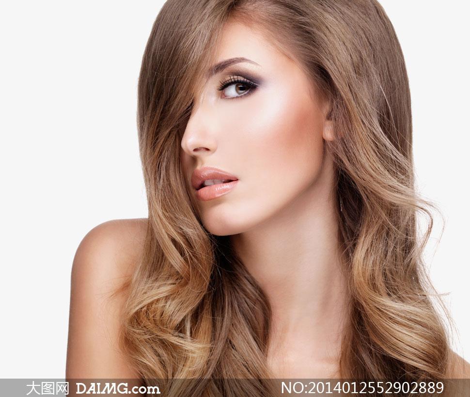 美女女性女人模特长发
