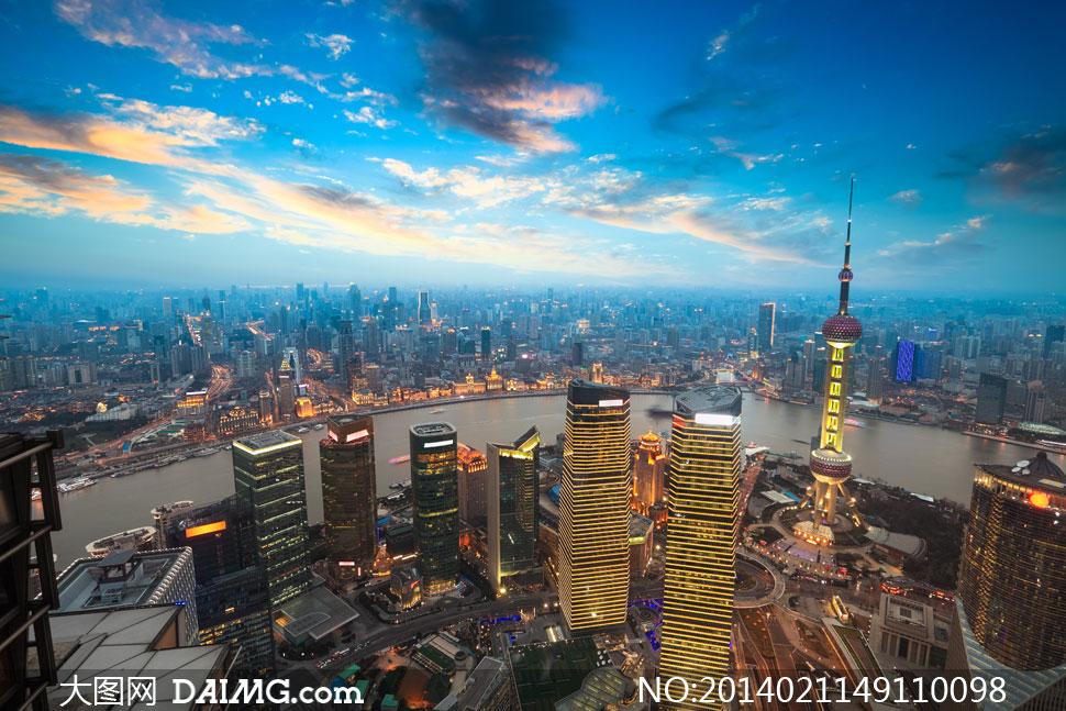 上海陆家嘴地标建筑物摄影高清图片