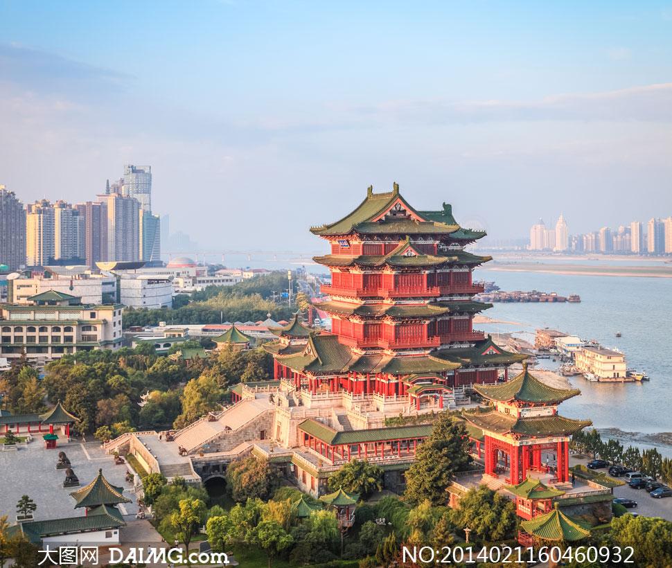 高清摄影大图图片素材风景风光旅游名胜古迹鸟瞰俯瞰建筑物南昌