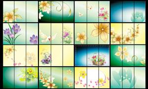 时尚的花朵移门图案设计PSD源文件