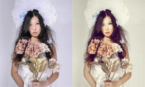 新娘照片質感黃調效果PSD調色圖層