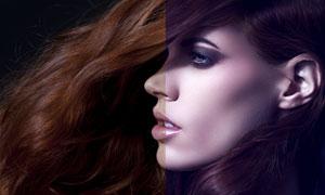 美女面部膚色質感精修PSD調整圖層
