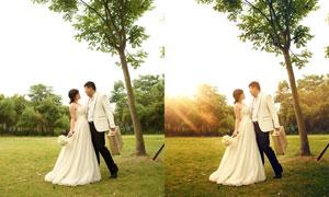外景婚片添加逆光效果PSD調整圖層
