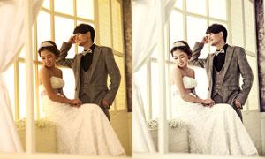 室內婚片暖色效果PSD調色圖層
