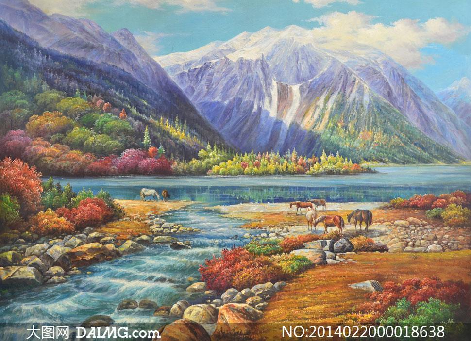 天马行空 更新时间: 2014-02-20 特别说明:  山坡下的美丽河流风景