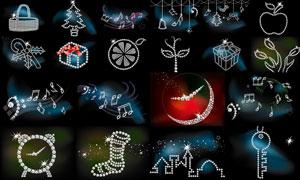 璀璨星光鉆石物品創意設計矢量素材