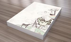 猴子大象与斑马等插画PSD分层素材