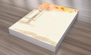 树叶树木水彩背景插画PSD分层素材