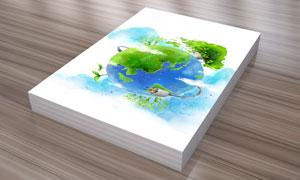 地球上的树木插头创意PSD分层素材