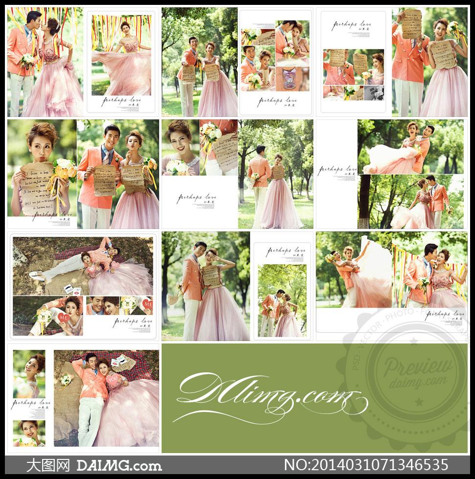 2014婚纱照psd模板