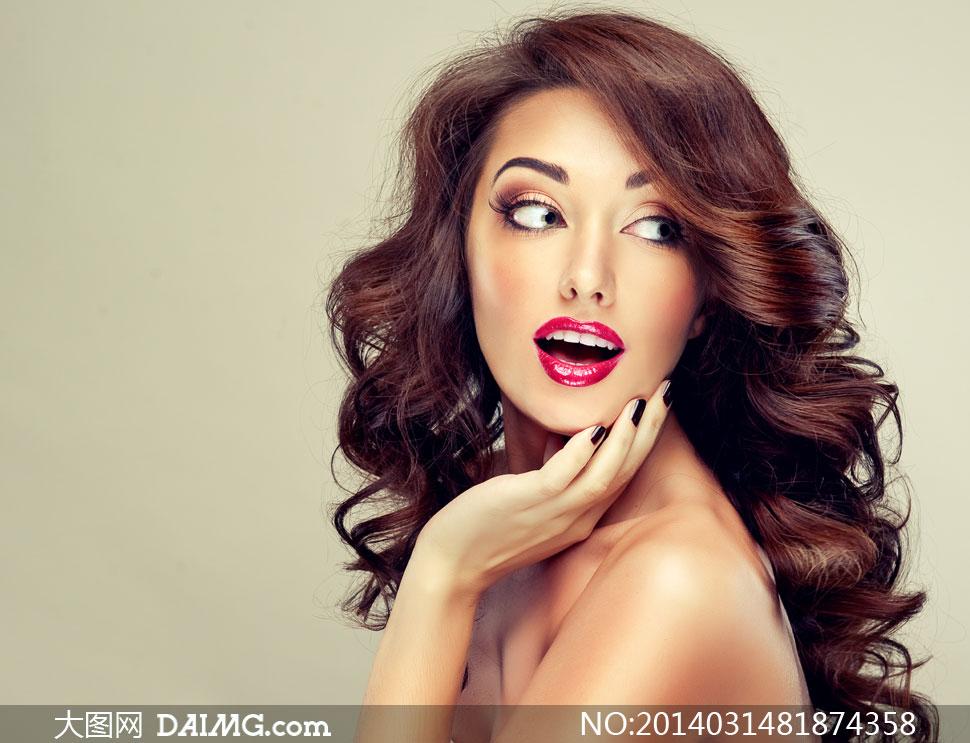 美女女人女性发型